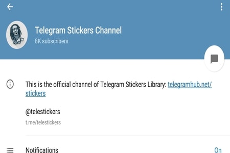 Stickers channel