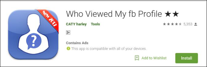who viewed my facebook profile android