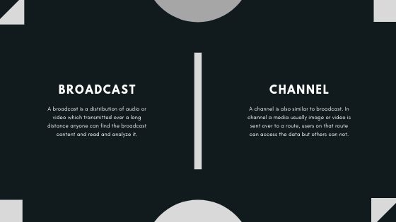 broadcast vs channels