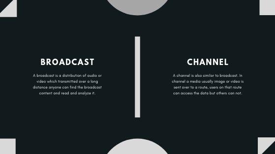 broadcast vs channels